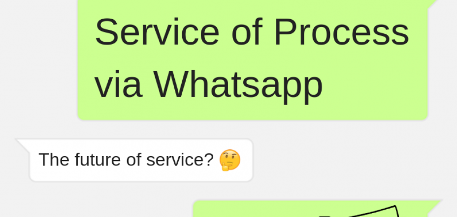 Service of Process via WhatsApp
